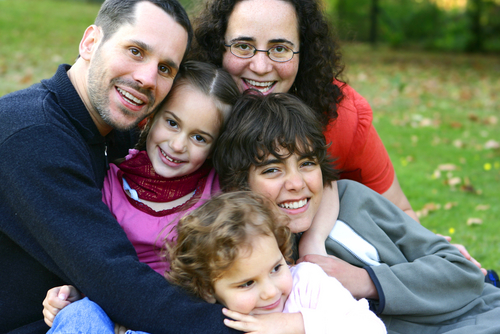 Family outside