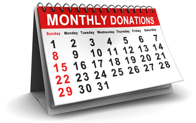 Monthly Donations Calendar