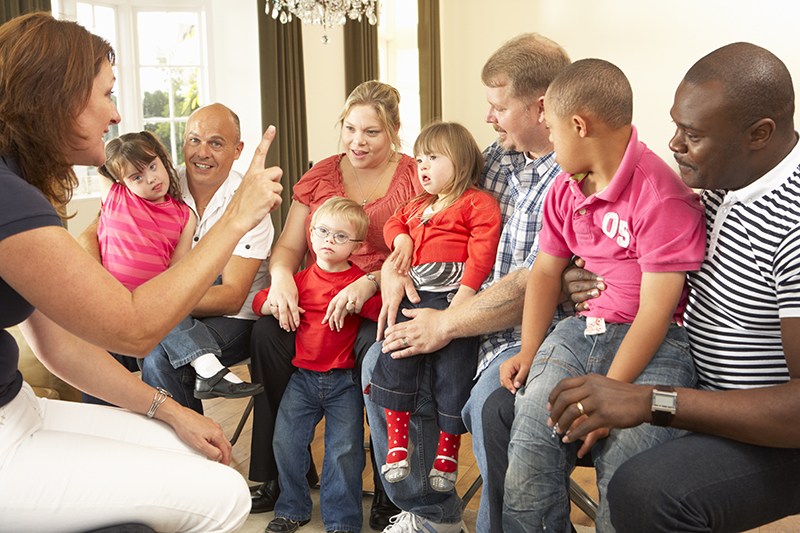 Group meeting for children who have Downs Syndrome and their families